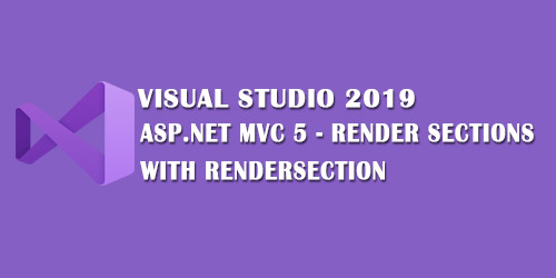 ASP.NET MVC 5 Render Sections with RenderSection