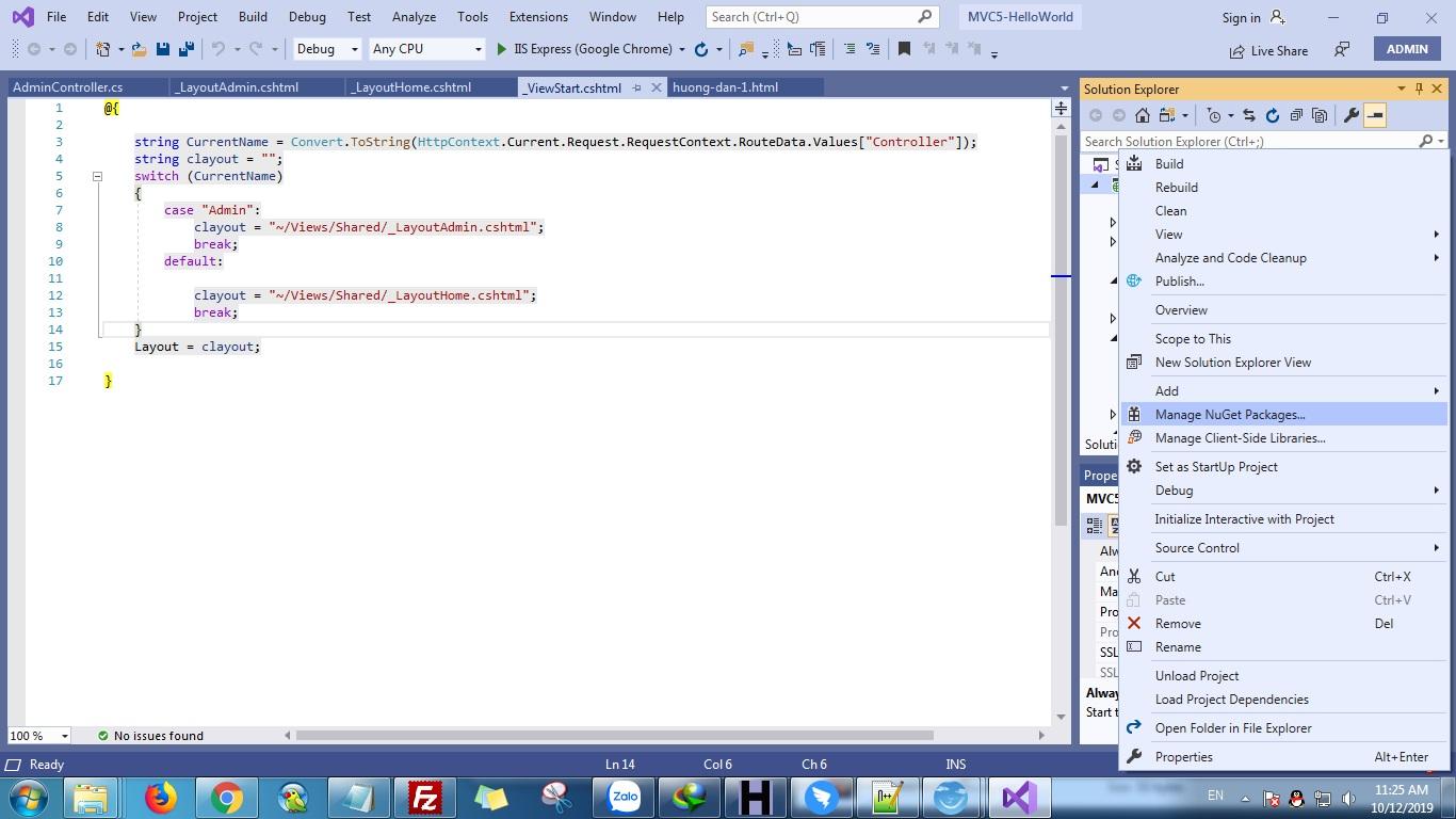 ASP.NET MVC 5 Install Bootstrap