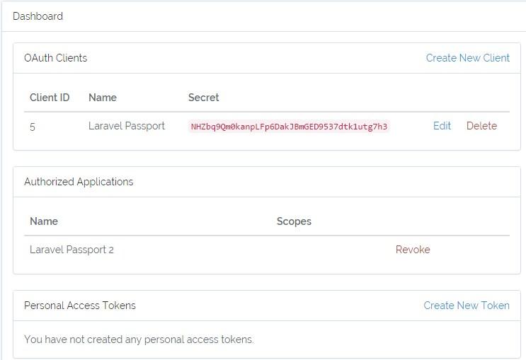 Xác thực API bằng OAuth 2 với Laravel 5.4 Passport