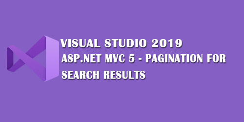 Pagination For Search Results ASP.NET MVC 5