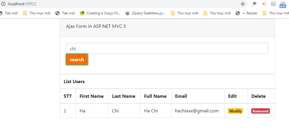 ASP.NET MVC 5 Partial View with Ajax Form