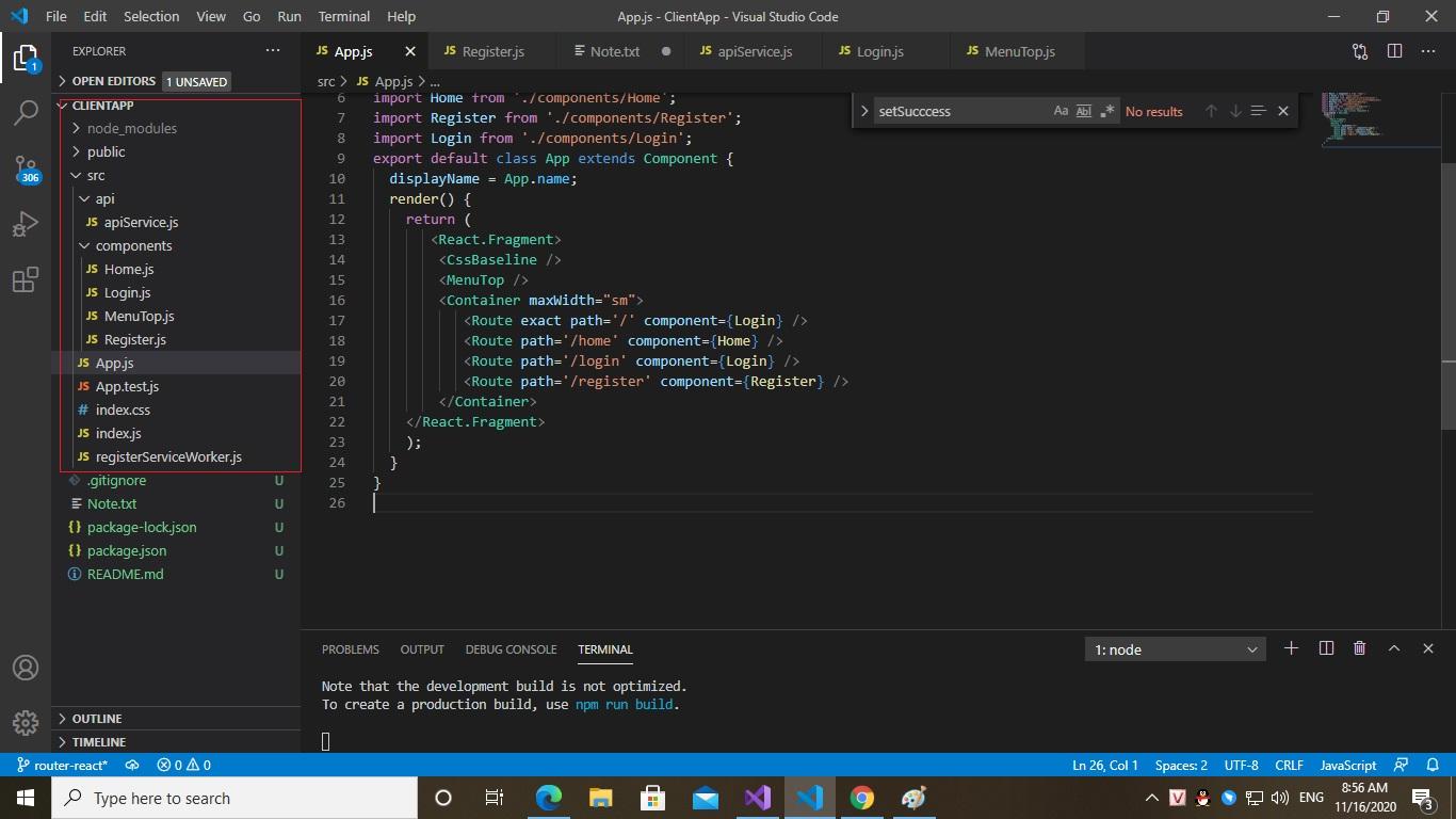 Create Register & Login using ASP Core 2.1 + React (part 2)