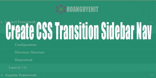 Create CSS Transition Sidebar Nav